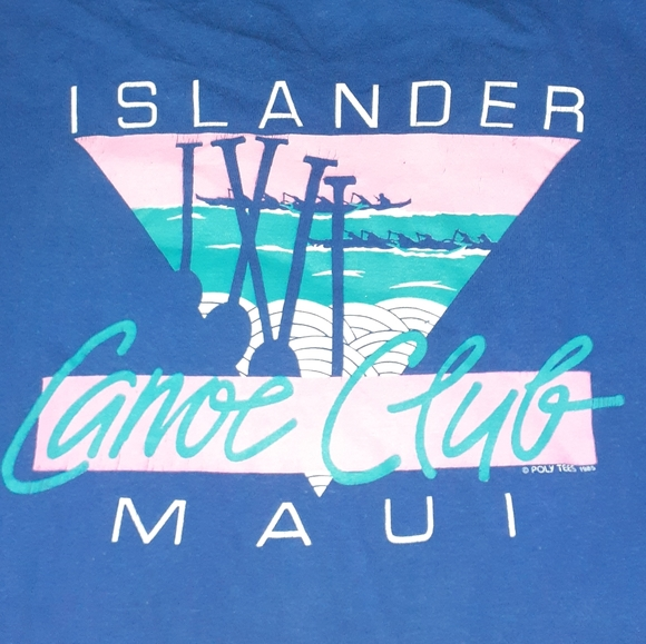 Super Cru Other - 1985 Islander Maui Canoe Club Vintage 80s Shirt